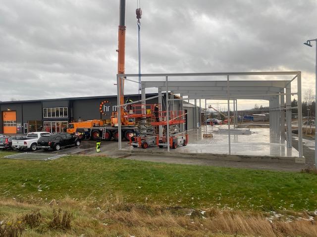 Bygge bilhall HR motor 25 November